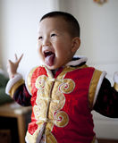 Happy Chinese baby boy at Chinese new year. Day Stock Images