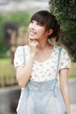 Happy Chinese girl. Outdoor portrait Stock Photography