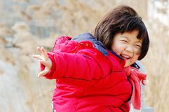 Happy Chinese girl Royalty Free Stock Image