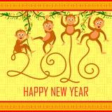 Happy Chinese New Monkey Year 2016 Stock Photography