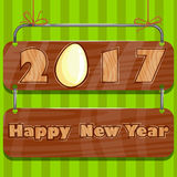 Happy Chinese New Rooster Year 2017 greeting background. In vector Stock Photography