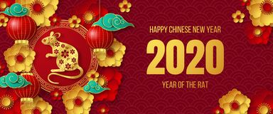 Free Happy Chinese New Year 2020 Banner. Stock Photo - 163713250