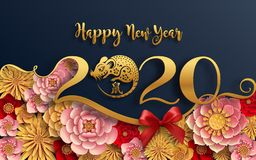Free Happy Chinese New Year 2020 Year Of The Rat. Stock Photography - 153022542