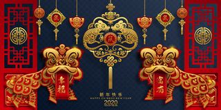 Free Happy Chinese New Year 2020 Year Of The Rat. Stock Photography - 153028482