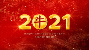 Free Happy Chinese New Year 2021, Year Of The Ox Also Known As The Spring Festival Red Background. Royalty Free Stock Image - 200975736