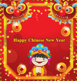 Happy Chinese new year. Greeting card stock illustration