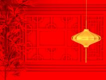 Happy Chinese new year 2018 , abstract on red background , minimal concept .3d rendering. 3d illustration Stock Photos