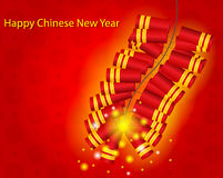 Happy Chinese New Year Background. Happy Chinese New Year with Fire Cracker Background Vector Illustration Stock Images