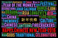Happy Chinese New Year 2016. Card Royalty Free Stock Photo