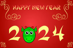 Happy chinese new year card illustration for 2024. The year of the dragon vector illustration