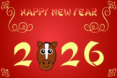 Happy chinese new year card illustration for 2026. The year of the horse royalty free illustration