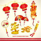 Happy Chinese New Year Decoration Set. Vector Design Royalty Free Stock Image