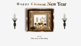 Happy Chinese New Year, 2018 Year of the Dog. royalty free illustration