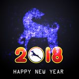 Happy  Chinese New Year  2018 year of the dog.  Lunar new year.  Royalty Free Stock Photos