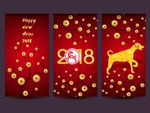 Happy  Chinese New Year  2018 year of the dog.  Lunar new year.  Royalty Free Stock Image