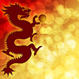 Happy Chinese New Year Dragon Blurred Background. Happy Chinese New Year Dragon with Blurred Bokeh Background Illustration Royalty Free Stock Photo