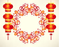 Happy Chinese New Year Frame Decoration. Vector Design vector illustration