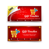 Happy chinese new year gift voucher template vector illustration Royalty Free Stock Image