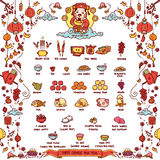 Happy Chinese New Year, God of Wealth. Vector Illustration of Chinese God of Wealth Worshiped Offering Sacrifices On Chinese New Year. The Chinese text means ` royalty free illustration