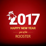 Happy Chinese new year 2017 with golden rooster Royalty Free Stock Images