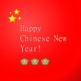 Happy Chinese New Year, greeting card. Vector illustration Royalty Free Stock Image