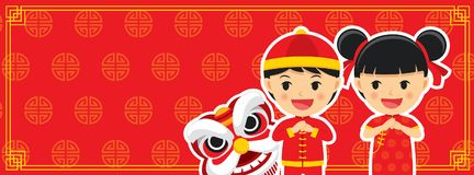 Happy chinese new year greetings card background. Happy chinese new year greetings card background for web and print vector illustration