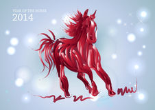 Happy Chinese New Year of horse 2014 Royalty Free Stock Photo