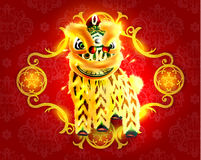 Happy Chinese New Year Lion Dance Stock Photography