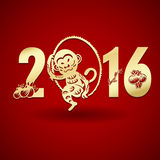 Happy Chinese new year monkey Royalty Free Stock Photography