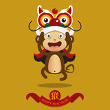 Happy Chinese New Year. Monkey cartoon character. Royalty Free Stock Photos