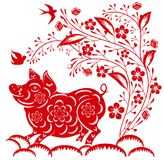 Happy  Chinese New Year  2019 year of the pig.  Lunar new year.  Royalty Free Stock Images