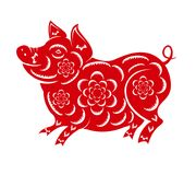 Happy  Chinese New Year  2019 year of the pig.  Lunar new year.  Stock Photography