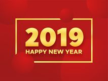 Happy Chinese New Year 2019 of the Pig Royalty Free Stock Image