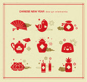 Happy Chinese New Year. Set of Chinese new year icons/ design elements