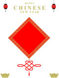 Happy chinese new year square background decoration Royalty Free Stock Photos