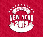 Happy  Chinese New Year  2019. Vector Royalty Free Stock Images