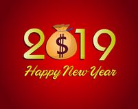 Happy  Chinese New Year  2019. Vector Royalty Free Stock Photos