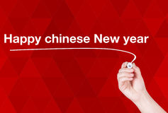 Happy Chinese New Year  word write Royalty Free Stock Images