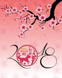 Happy  Chinese New Year  2018 year of the dog.  Royalty Free Stock Photography