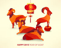 Happy Chinese New Year Year of Goat Royalty Free Stock Image