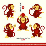 Happy Chinese New Year 2016 Year of Monkey Stock Image