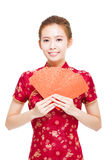 Happy chinese new year. young asian woman Royalty Free Stock Image