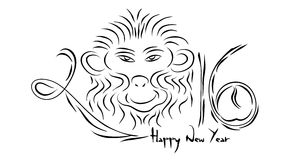 2016-Happy Chinese New Year Royalty Free Stock Photography