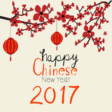 Happy Chinese rooster New Year 2017 background  Stock Photos