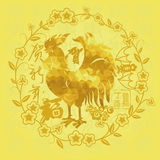 Happy the Chinese rooster year Stock Photos