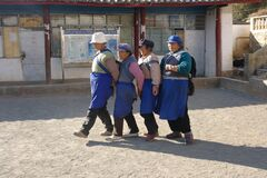 Naxi women dancing in Yunnan province