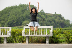 Happy Chinese woman stock images