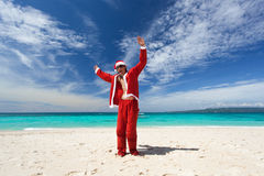 Happy Chistmas on the beach Royalty Free Stock Photography