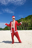 Happy Chistmas on the beach Royalty Free Stock Photo
