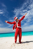 Happy Chistmas on the beach Stock Images